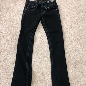 Size 25 Black Miss Me jeans